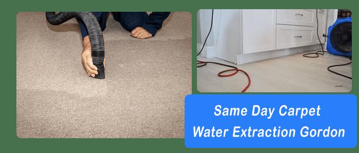Same Day Carpet Water Extraction Gordon